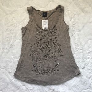 Anthropologie Deletta Embellished Front Tank NWT